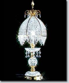 Boutique Collection Crystal Table Lamp - Available at GrandLight.com