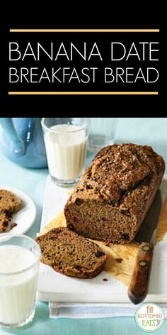 A banana date breakfast bread recipe. Eating clean never tasted so good!