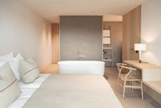 Hotel bedroom design - Hotel Schgaguler A Minimalist Hotel Surrounded by the Beauty of the Dolomites Hotel Lobby Design, Hotel Bedroom Design, Hotel Bedrooms, Hotel Design Interior, Hotel Inspired Bedroom, Interior Sketch, Nordic Interior, Interior Garden, Bedroom Designs