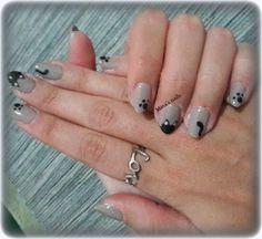 Kiriaki's sweet kitty nails <3
