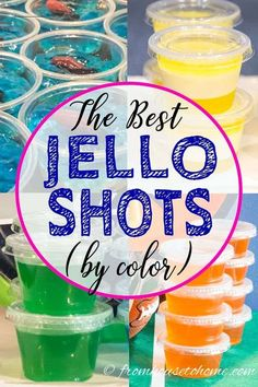 The Best Jello Shot Recipes (By Color) - Entertaining Diva Recipes @ From House To Home I LOVE this list of the best jello shots by color! Lots of easy recipes that are made with vodka, tequila, rum or coconut rum. Orange Jello Shots, Fireball Jello Shots, Easy Jello Shots, Margarita Jello Shots, Making Jello Shots, Jello Pudding Shots, Blue Jello, Jello Shots With Rum, Strawberry Jello Shots