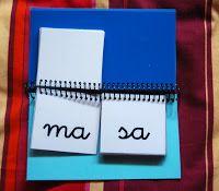 Material elaborado para trabajar en la Fase II del Método Globalizado de Lectura. Se trata de un libro con dos columnas de sílabas para f...