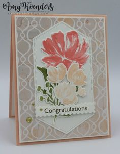Pink Cards, Stampin Up Catalog, Ad Art, Stamping Up Cards, Congratulations Card, Flower Images, Card Tags, Fine Art Gallery, Flower Cards