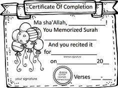 www.arabicplayground.com Islamic Certificate of Completion by Sunnah Learners
