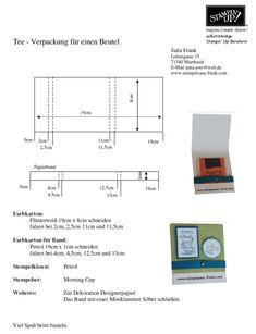 Stempeloase Frank - Stampin Up! - für Bastel- und Stempel-Freunde - Tee-Verpackung für einen Teebeutel