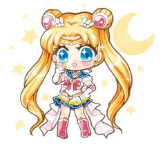 Chibi of Super Sailor Moon! Go check me out on Instagram too (I'm Arikukko on IG !~) I've also collaborated with Spreepicky so some of my chibis are on t-shirts over there =D #sailormoon #fanart