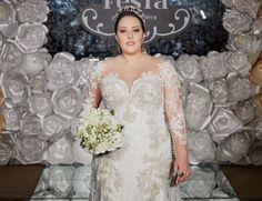 Vestido de noiva Plus Size por estilista Fernando Peixoto