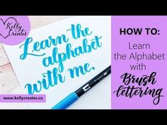 How to Write the Capital Alphabet (2 Styles) in Brush Lettering - YouTube