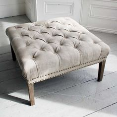 Bath Button Footstool - Graham & Green - £285 (with tray ontop to use as a coffee table in kitchen)