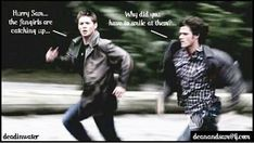 "Must run in the family because when Kevin saw Crowley's demons, he figured out it wasn't really Sam and Dean because they were TO polite! xD ""Sam and Dean would never buy me a barbecue dinner when there's leftovers in the fridge."" ~Kevin. ""So what your saying is my demons were to polite?"" ~Crowley *Kevin shrugs*"