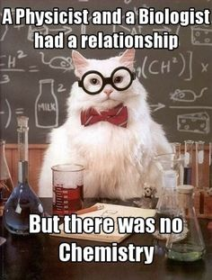 Good one, Chemistry Cat!