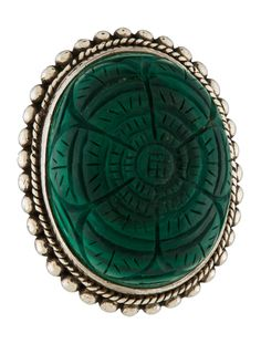 $180.00    Stephen Dweck Carved Malachite Cocktail Ring - Rings - STD22121 | The RealReal