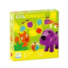 Jeu de société Little circuit Djeco pour enfant de 2 ans à 5 ans - Oxybul éveil et jeux