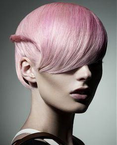 CANDY PINK l SHORT HAIR    FOR THE LATEST #HAIRSTYLES AND TRENDS VISIT OUR GALLERY    WWW.UKHAIRDRESSERS.COM    hort blonde straight coloured pink sculptured hairstyles for women
