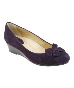 This Blackberry Teaberry Suede Wedge by Earth is perfect! #zulilyfinds