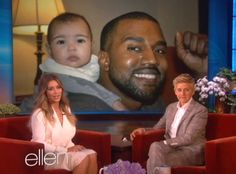 Kim Kardashian Shares New Baby North West Photos on 'Ellen'!: Photo Kim Kardashian shows off some adorable new photos of her seven-month-old baby girl North West during an appearance on The Ellen DeGeneres Show, airing Friday (January… Kim Kardashian Pregnant, Kim Kardashian And Kanye, Kardashian Photos, Kardashian Style, Kardashian Fashion, Ellen Degeneres, Baby Jokes, Daddys Little Princess, Jenner Girls