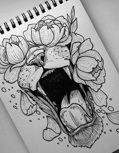 Credit to the artist Karma Tattoo, Torso Tattoos, Tattoo Drawings, Art Drawings, Life Tattoos, Body Art Tattoos, Modern Graphic Design, Graphic Design Illustration, Painting Tattoo