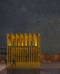 Gallery of Hall McKnight To Open A Temporary Pavilion In London's King's Cross…