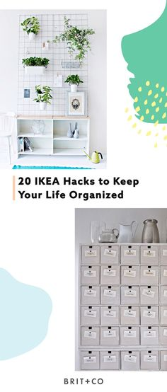 Keep your life and home super organized with these 20 DIY IKEA hacks.
