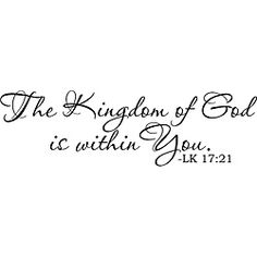 Add a sophisticated accent to your decor with this vinyl art. This accent piece is perfect for home, office, wedding, anniversary, housewarming gifts and dorm rooms. Colors: Matte black Design: The Ki Religious Quotes, Spiritual Quotes, Bible Scriptures, Bible Quotes, Favorite Bible Verses, God Loves Me, The Kingdom Of God, Gods Grace, Spiritual Inspiration