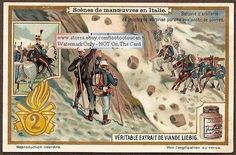 Avalanche Italian Mountain Army Cavalry c1917 Card