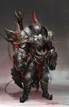 Kai Fine Art is an art website, shows painting and illustration works all over the world. Fantasy Character Design, Character Concept, Character Art, Armadura Medieval, High Fantasy, Dark Fantasy Art, Dark Art, Fantasy Armor, Medieval Fantasy