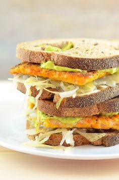 Vegan Tempeh Reuben Sandwich:  This sandwich is so easy to make, so it is absolutely perfect for Disney movie night.