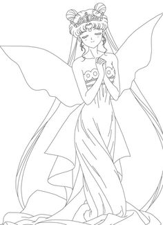 queen serenity coloring pages | sailor moon princess coloring pages | Dibujo | Libros para ...