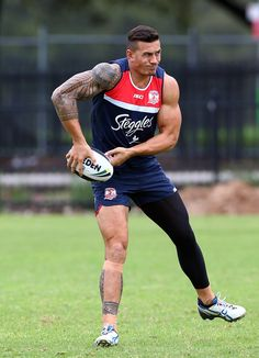 Footy Players: Sonny Bill Williams of the Sydney Roosters at...