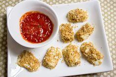 Recipe: Skinny Mozzarella Bites - I think using bite size mozzarella balls would work great!!!
