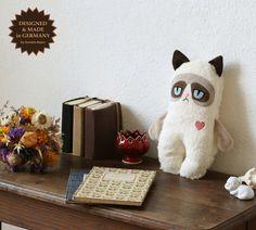 Baby mürrisch Katze von PetitiPanda auf Etsy, €33.90