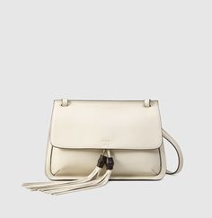 bamboo daily leather flap shoulder bag