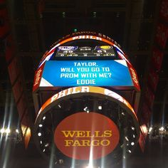 Promposal at the Philadelphia 76ers game! Too cute! #promposal