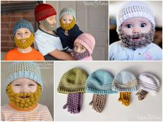 Bobble Crochet Beards