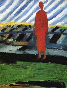 Red Figure Artist: Kazimir Malevich Style: Suprematism Genre: portrait Technique: oil Material: canvas Dimensions: 30 x 23 cm Kazimir Malevich, Russian Avant Garde, Russian Folk Art, Oil Painting Reproductions, Art Abstrait, Figurative Art, Oeuvre D'art, Canvas Art Prints, Modern Art