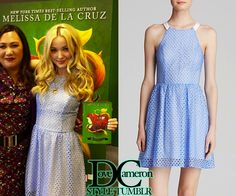 Dove wore this EXACT dress at the Isle of the Lost by Melissa de la Cruz book launch (May 5, 2015)AQUA Dress - Eyelet Fit and FlarePrice: $78.40 at Bloomingdale's