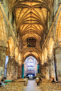 St Giles Cathedral, Edinburgh, Scotland It's places like this that make you feel so small and insignificant. It looks soaked in history.