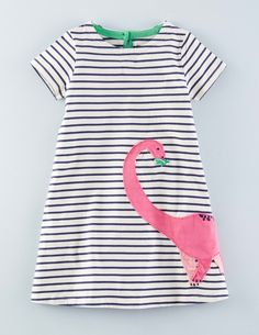 Jersey Appliqué Dress 33469 Clothing at Boden