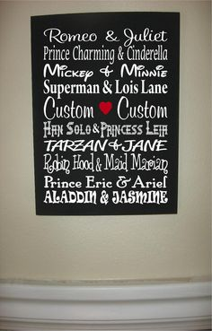 Custom Personalized Wooden sign-Famous Couple Subway Art