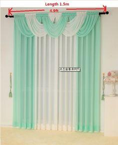Cortinas para la sala de estar cortina pura cortinas de cocina moderna de lujo tulle cortinas paneles y cascada cenefa tratamiento