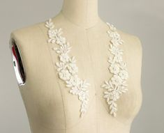 New Item Ivory With Silver Thread Pearl Beaded by CraftCabaret