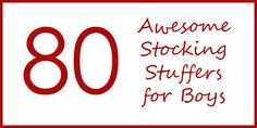 Outnumbered: 80 AWESOME STOCKING STUFFERS FOR BOYS AGES 10 - 17
