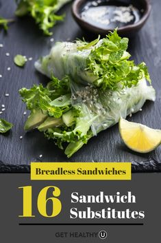 16 different ways to swap out your traditional sandwich bread for a healthier option! #Healthy #GlutenFree #LettuceWraps #Vegetables #HealthyLunchIdeas #HealthySandwiches