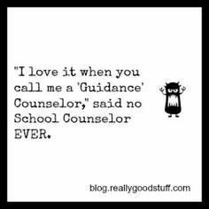 Haha!  Guidance Counselor vs School Counselor Blog Post.
