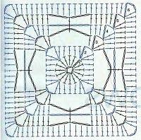 Granny Square häkeln - crochet Crochet square chart