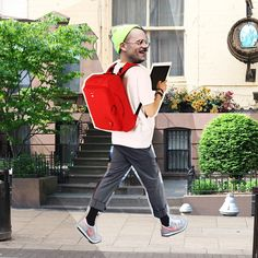 KEVIN 655 BACKPACK RED