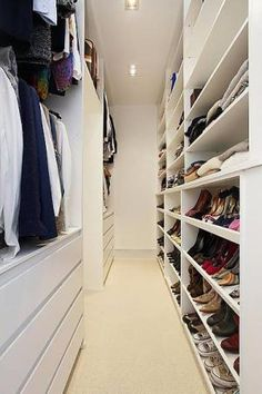 I like how the clothes are on one side and the shoes are on the other. I would need half of the shoes area for my purses though!!