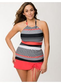 Lane Bryant Swimsuits 2014 | Lane Bryant~Cacique - Lane Bryant Plus Size Striped…