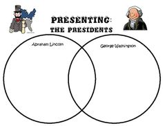 Great graphic (Venn Diagram) comparing George Washington and Abraham Lincoln...