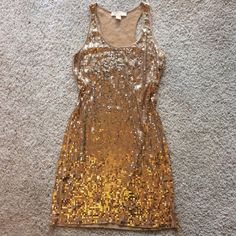 Michael Kors Gold sequin tank dress Great used condition! Nice and stretchy MICHAEL Michael Kors Dresses Mini
